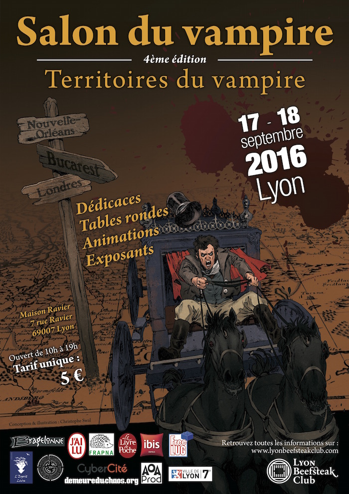 L 39 affiche du salon du vampire 2016 lyon beefsteak club for Salon du jardinage 2016