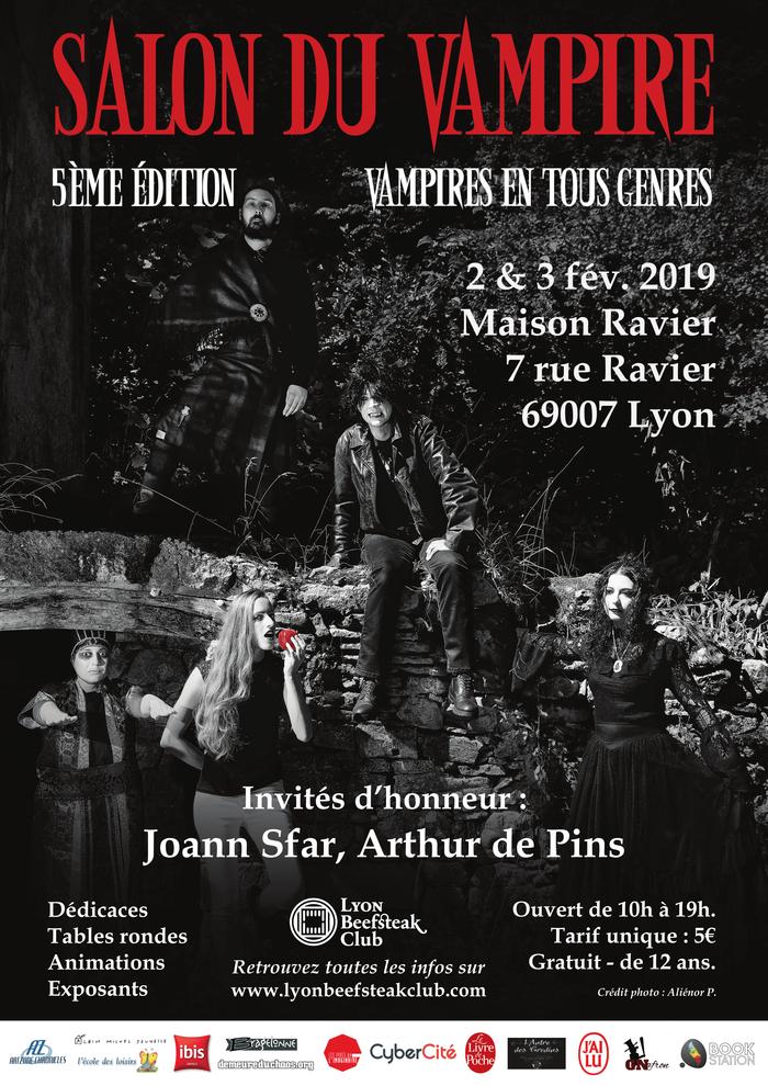 Salon du Vampire, 5e édition : vampires en tous genres (Lyon) Affiche-salon-du-vampire-2019